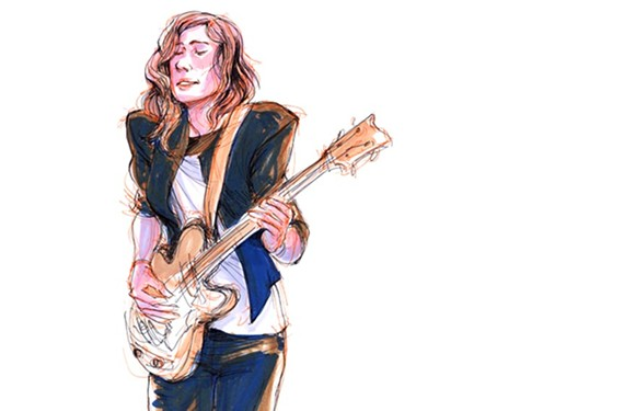 Avers bassist and singer, Alexandra Spalding, drawn by Richmond artist Jennifer Kennedy. Read more about how she's capturing the likenesses of local bands here.