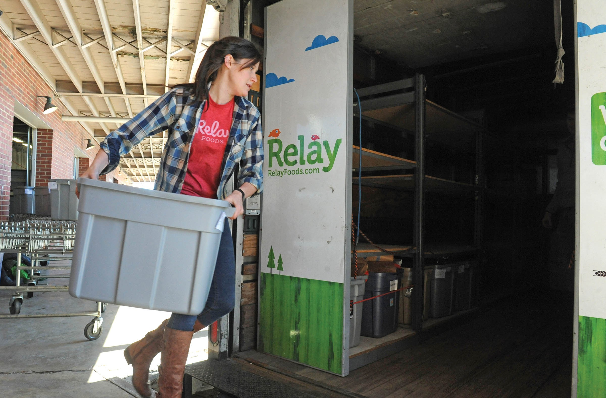 Back at Relay's Richmond headquarters, the items are combined into orders and loaded into trucks. - SCOTT ELMQUIST