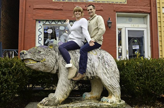 Barbara Pasnak and her husband, Kevin Offutt, have created a new home for the Fan's famous polar bear across the street at Terra Gypsy.