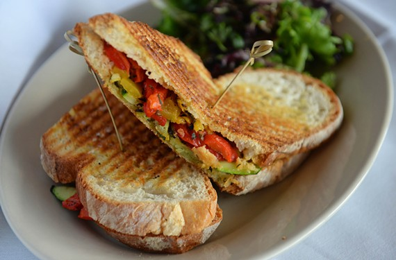 Bella's Restaurant's colorful grilled vegetable panino.