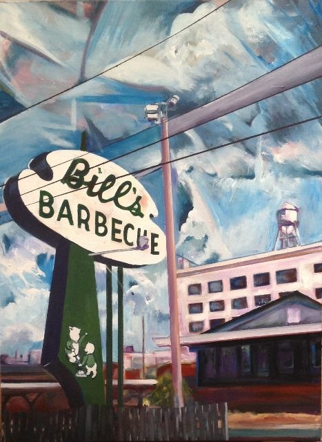 """Bill's Barbecue,"" a piece from Trask's current show at Glave Kocen Gallery, sold for $2,200. - ED TRASK"