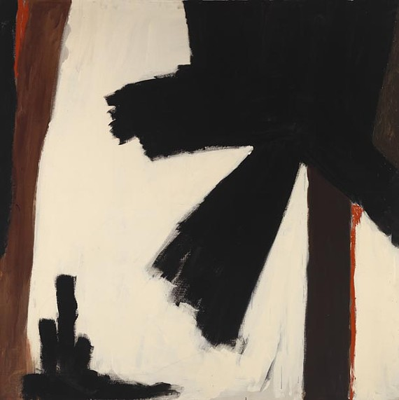 """Black Poppy"" (1970), an example of Godwin's muscular style, will be on display at the Virginia Museum of Fine Arts."