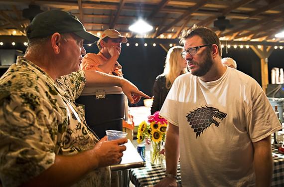 Border Springs Farm's Craig Rogers with food writer Josh Ozersky.