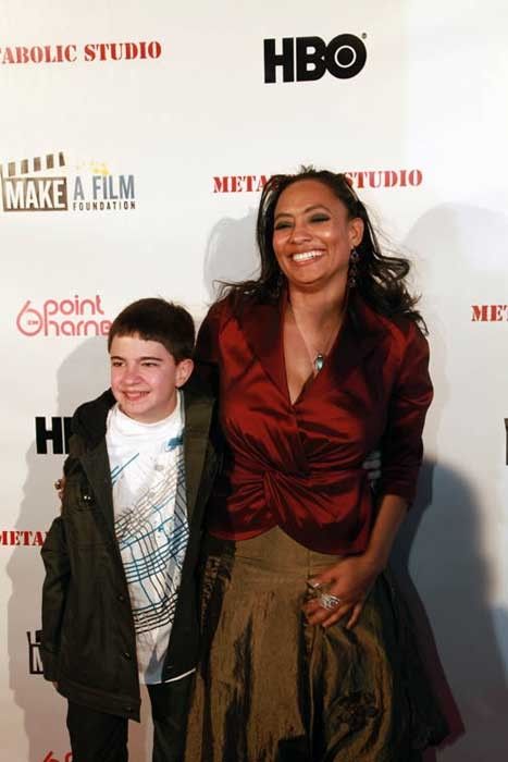 Budding director Clay Beabout with the Make-A-Film Foundation's Tamika Lamison. - THE MAKE A FILM FOUNDATION