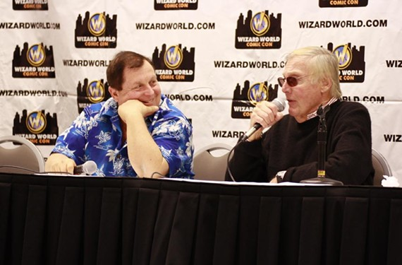 Burt Ward and Adam West.