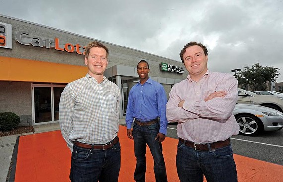CarLotz founders and Harvard Business School alumni Will Boland, Aaron Montgomery and Michael Bor opened their first consignment used-car lot in June. - SCOTT ELMQUIST