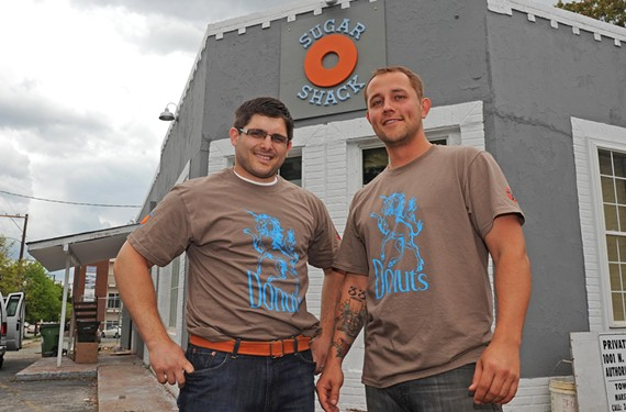 Casey Ward and Ian Kelley expect to open Sugar Shack Donuts in Carver this week, and promise something different for Richmond. - SCOTT ELMQUIST