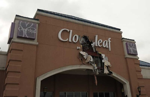 Chesterfield's Cloverleaf Mall, in the early stages of demolition. - SCOTT ELMQUIST