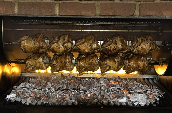 Chicken Fiesta is bringing its tasty charcoal-fired rotisserie birds to West Broad — and the territory of Lee's Famous Recipe Chicken.