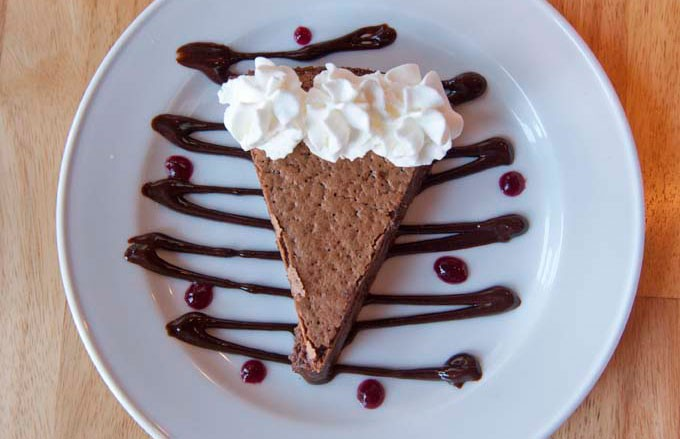 Chocolate chess pie at Ettamae's Café has a graham cracker crust and a flavor that makes time stand still. - SCOTT ELMQUIST