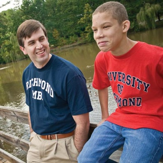 Chris Johnson and Kaleb have spent several years together in Big Brothers and Big Sisters. - ASH DANIEL