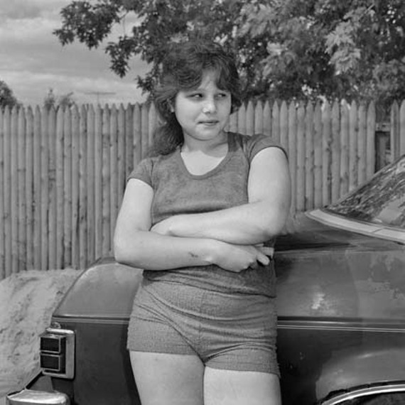 "Christine Osinski's ""Girl Looking Sideways."""
