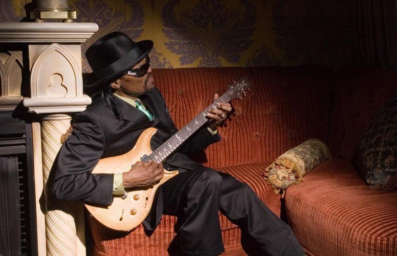 "Chuck Brown, the inventor of go-go music, doesn't think of playing music as work. ""I ain't had a day job in over 40 years. I thank God for that."" - JAMES HILSDON"