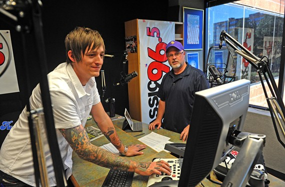 Co-hosts Mason and Sam Giles, in the second full week of their new morning show on Classic Rock 96.5, are part of the station's strategy to emphasize local talent over syndicated shows.