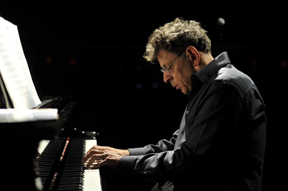 Composer Philip Glass at his piano. - FERNANDO ACEVES