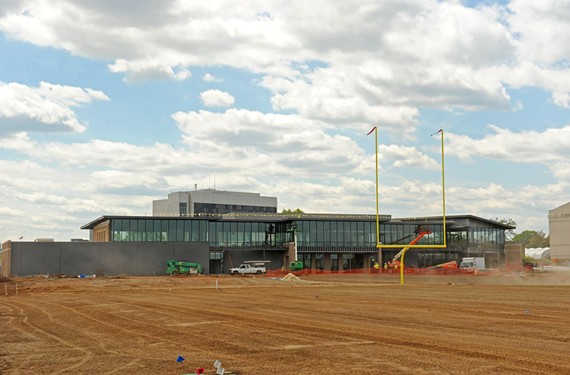 Construction is over budget but on schedule at the Redskins Training camp. - SCOTT ELMQUIST