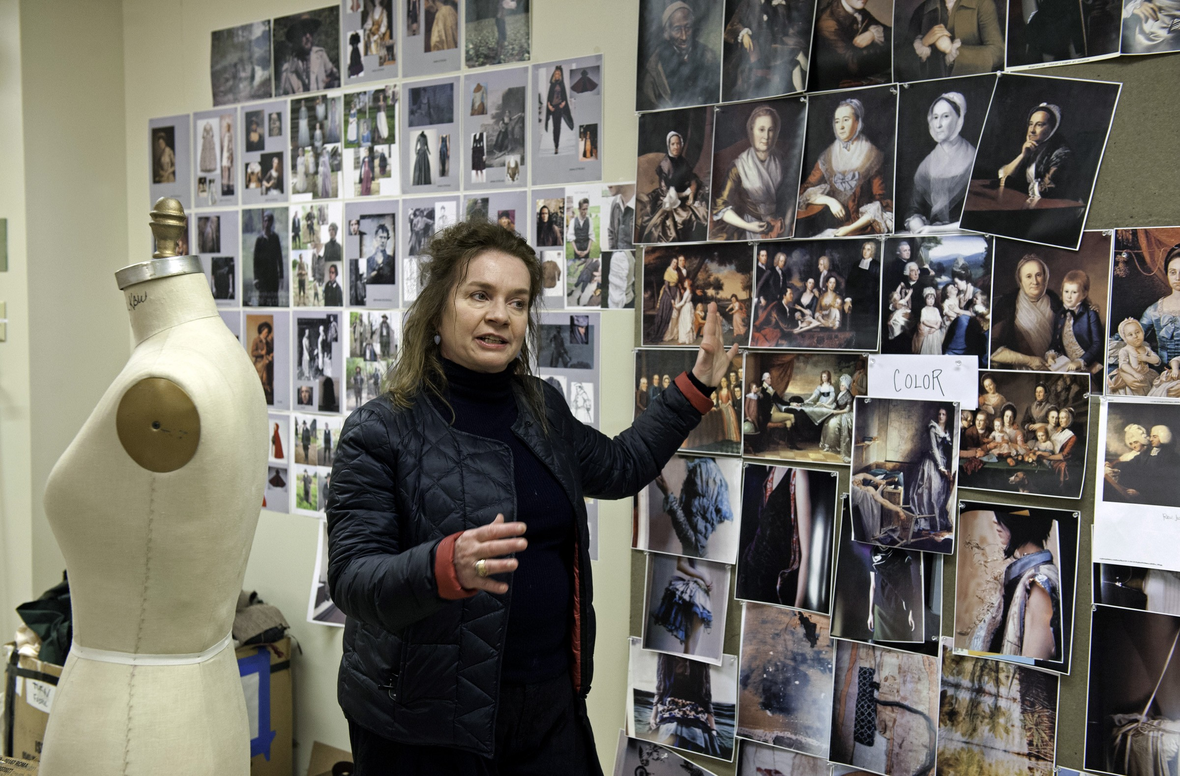 """Costume Designer Donna Zakowska, who won an Emmy for her work on HBO's """"John Adams"""" — also shot in Virginia — offers a tour of her workshop in a warehouse near the Richmond International Raceway. Despite the show's time period, she says, it offers a """"very contemporary statement"""" about young people making change. - SCOTT ELMQUIST"""