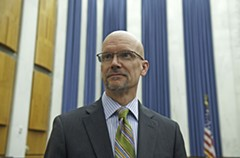 Councilman Chris Hilbert's opposition to the mayor's ballpark proposal softens. - SCOTT ELMQUIST
