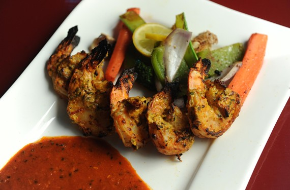 Cracker prawn are among a changing list of appetizers at Lemon Cuisine of India, in the former Byram's spot near WTVR. - SCOTT ELMQUIST