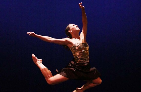Dancer Amy Perkinson with VCU Dance Now, which is exploring the work of New York choreographer Kate Weare. - SARAH FERGUSON