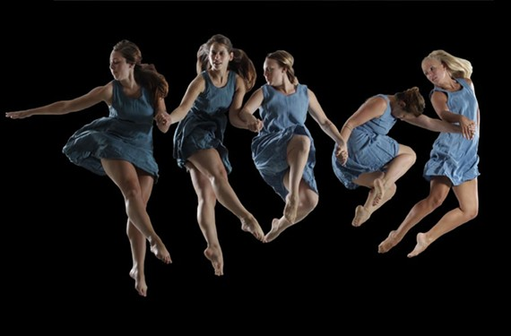 "Dancers Caitlin Cunningham, Katie Branca, Laura Grace Zetlan, Kathleen Brady and Jordan Livermon will be bringing ""Lunacy"" to life as part of the Starr Foster Dance Project's premiere in October."
