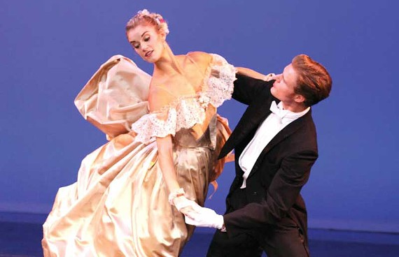 "Dancers Valerie Tellmann and Phillip Skaggs show off their mastery of the waltz in ""Liebeslieder Walzer,"" choreographed by George Balanchine. - SARAH FERGUSON"