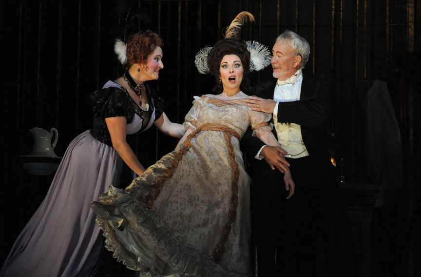 "Dancing takes center stage in Virginia Opera's ""Die Fledermaus."" - DAVID A. BELOFF"