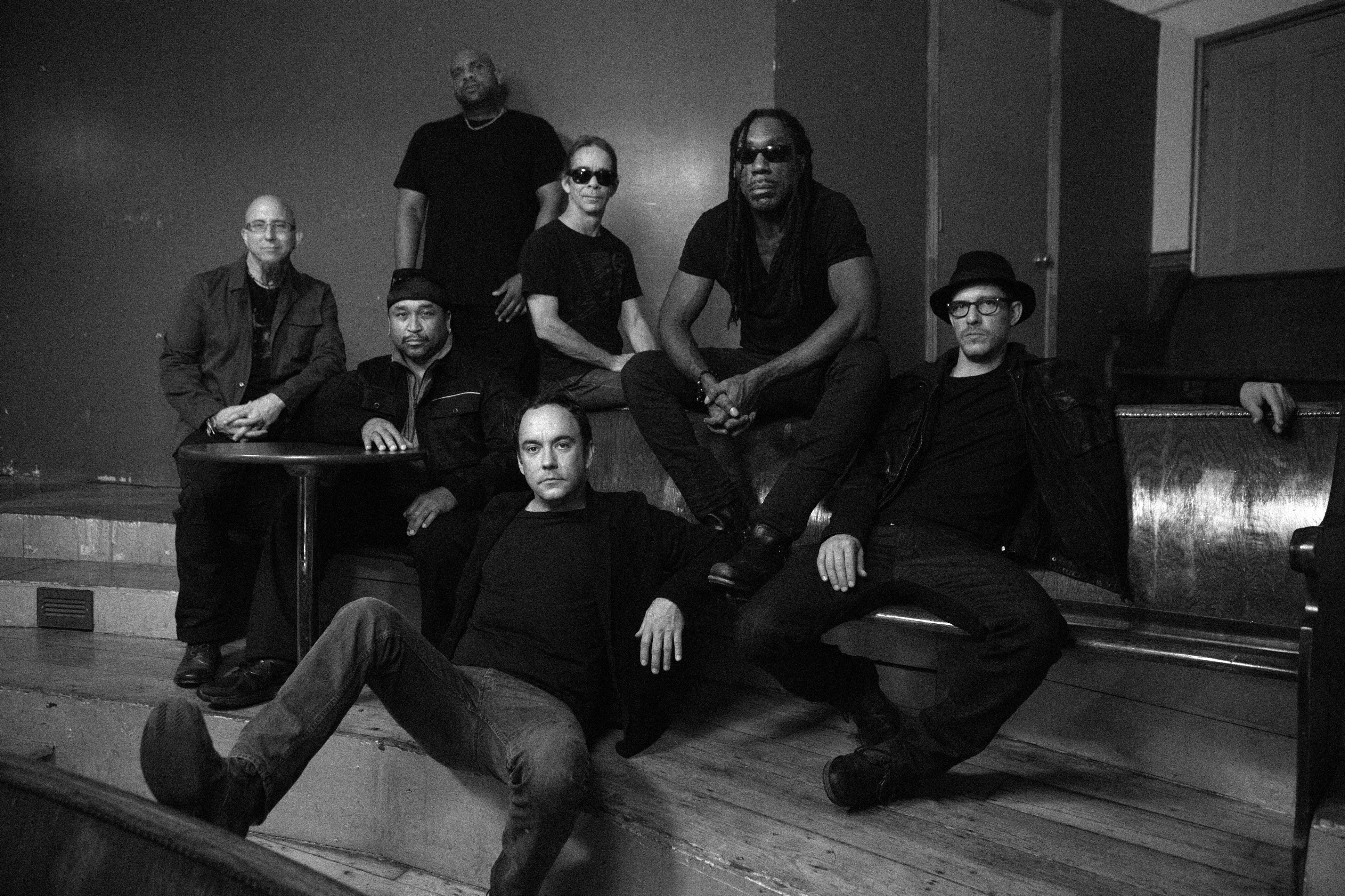 Dave Matthews Band member Boyd Tinsley, seen here sitting on the bench second from right, has responded to a lawsuit from his former employee, Richmond resident Andrew Rothenberg.