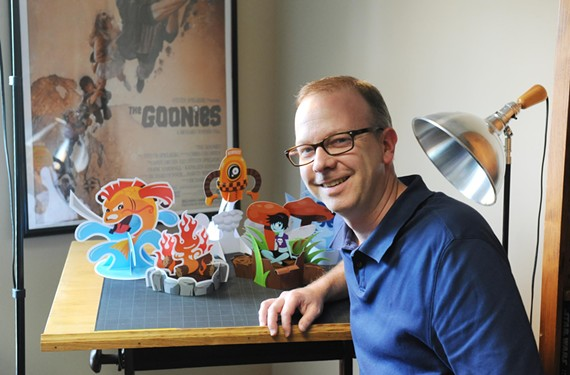 David Landis normally works on advertising, but his hobby creating stand-up paper crafts is beginning to take off, thanks in part to Google. - SCOTT ELMQUIST