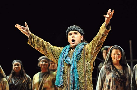 "David Pershall plays Zurga in the fall 2012 production of ""The Pearl Fishers."" - DAVID A. BELOFF/VIRGINIA OPERA"