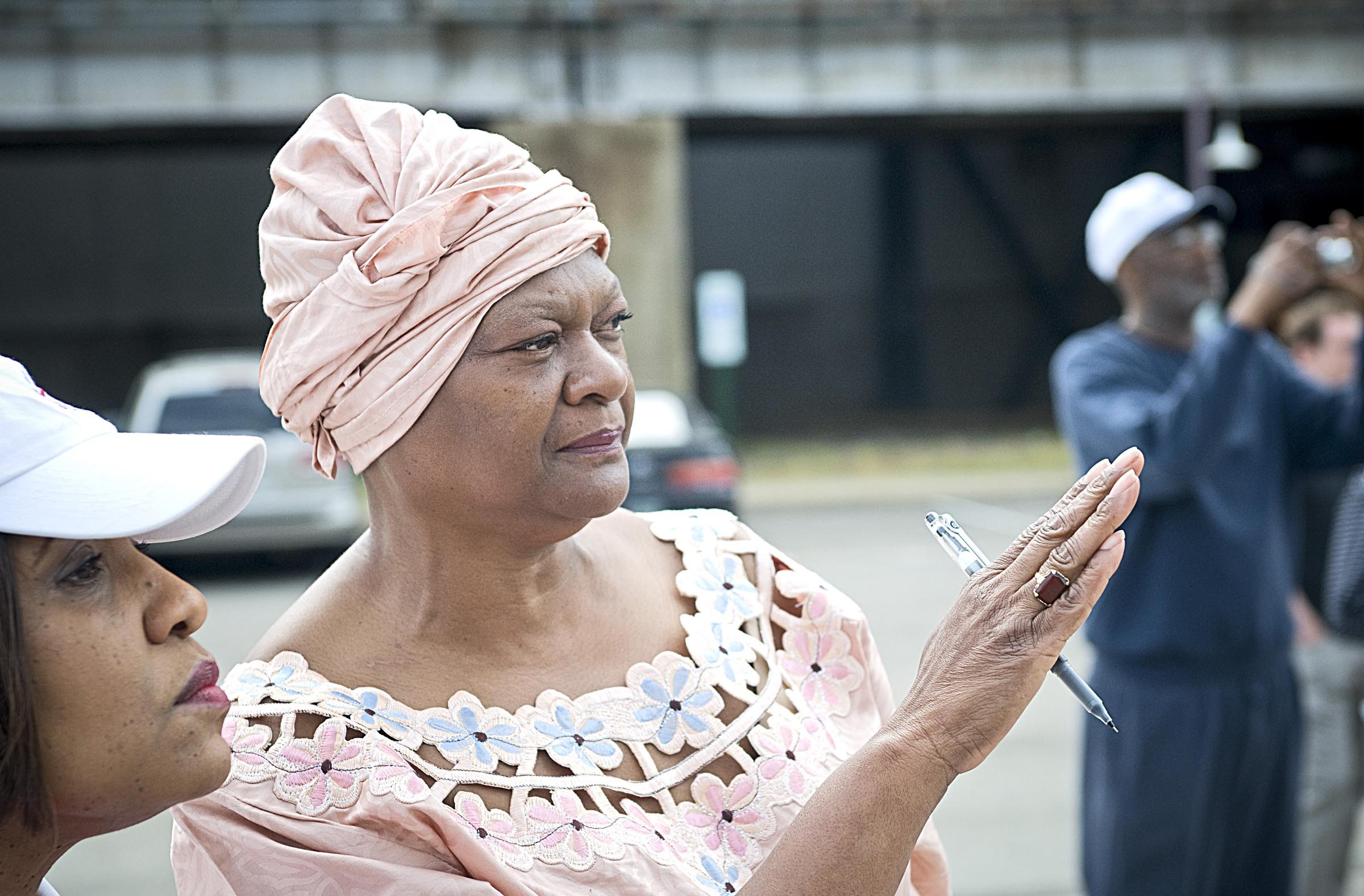 Delegate Delores McQuinn, pictured at the 2010 dedication of the Lumpkin's Jail interpretative site in Shockoe Bottom, says the city's Slave Trail Commission soon will decide whether to take a public position on a new ballpark. - ASH DANIEL