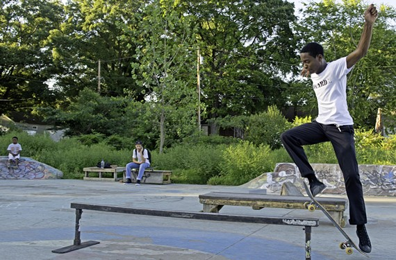 Deon Hawkins, an 18-year-old from Varina, enjoys Treasure Island Community Skatepark near Texas Beach, which the city has allowed skateboarders to use while it works on permanent plans for the property.
