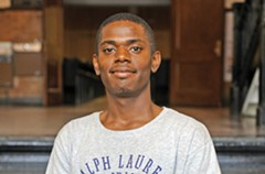 """Despite failing 11th grade, 19-year-old Cornelius Curtis wouldn't give up. """"I didn't want to get my GED,"""" he says. """"I wanted to get my diploma."""" He's graduating June 12. - SCOTT ELMQUIST"""