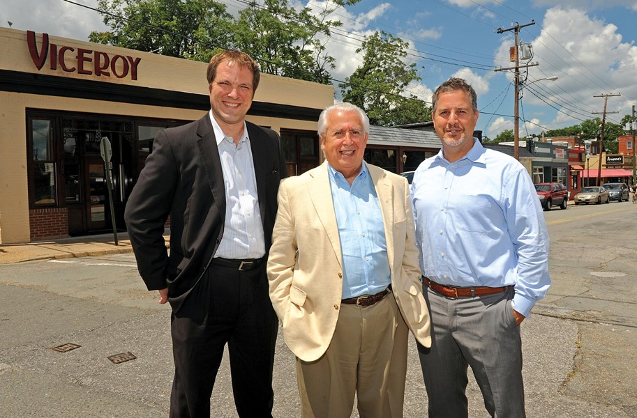 Developers Nathan Hughes, Bedros Bandazian and Raffi Bandazian have big plans for the Devil's Triangle neighborhood. - SCOTT ELMQUIST