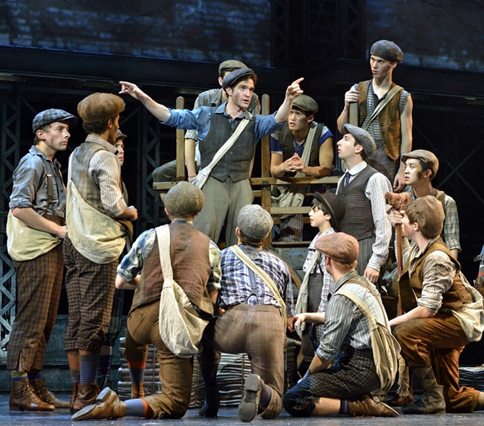 "Direct from Broadway comes ""Newsies,"" the hit musical from Disney that won the 2012 Tony Awards for Best Score and Best Choreography."