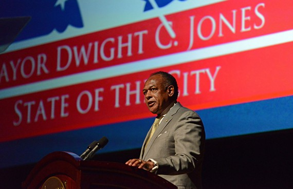 Does Mayor Dwight Jones need a $400,000 security detail? Despite agreement on City Council to scale it back, the mayor's budget restored full funding. - SCOTT ELMQUIST