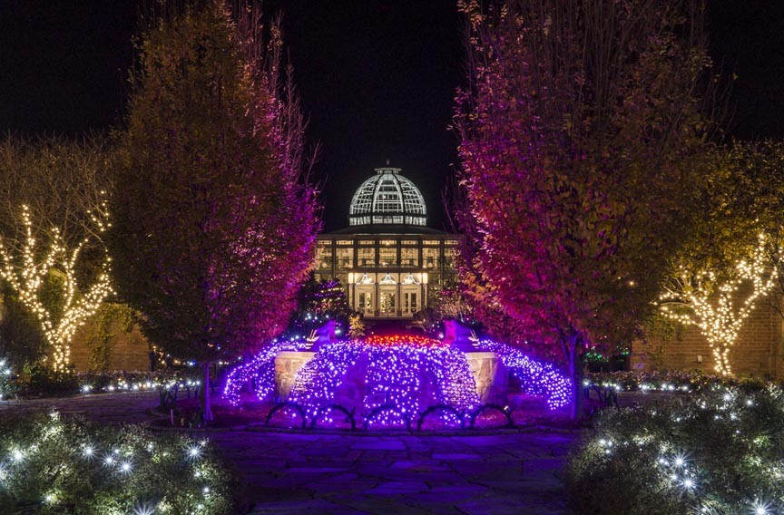 Dominion gardenfest of lights at lewis ginter botanical garden night and day style weekly for Lewis ginter botanical gardens christmas