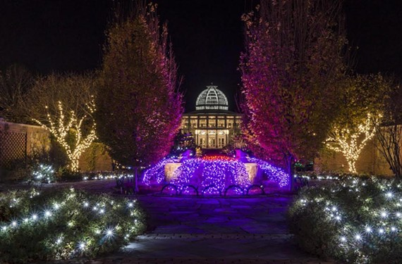 Dominion GardenFest of Lights at the Lewis Ginter Botanical Garden.