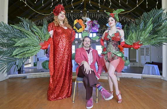 Drag queen and inimitable emcee Magnolia Jackson Pickett Burnside, Art on Wheels director of programs Kevin Orlosky and burlesque performer Deepa de Jour are bringing a surreal theme to this year's Sweethearts for the Arts fundraiser at Lewis Ginter Recreation Association.