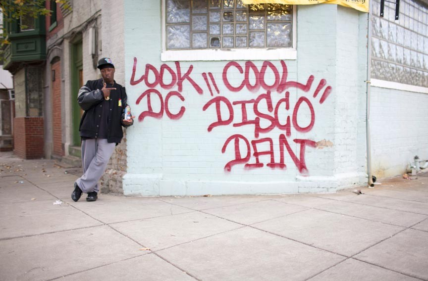 Early graffiti artist Cool Disco Dan, pictured here in a recent photo, is a D.C. legend. A new documentary about his story digs into the turbulent cultural history of the district.