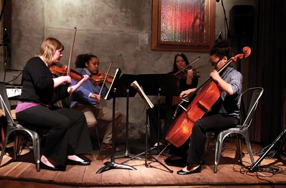 Ellen Cockerham, a violinist with the Richmond Symphony, has helped spearhead Classical Revolution RVA, which brings quality chamber music to nontraditional venues such as Balliceaux, above.