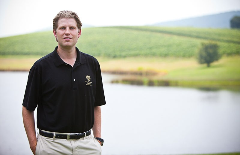 Eric Trump at his Charlottesville winery. - TRUMP WINERY