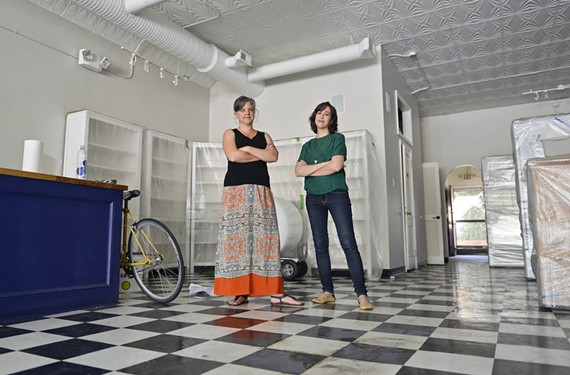 Erin Wright and Jessica Goldberg hope to reopen Little House Green Grocery in November.