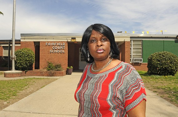 Fairfield Community Court President LaLeta Fritz quizzed Richmond Public School officials last Wednesday about why the neighborhood elementary school was allowed to deteriorate to the point that a ceiling tile fell on a student