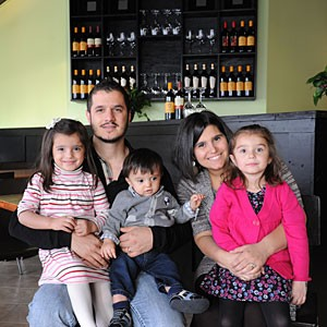 Families will feel at home at the new location of Arianna's in Lakeside, where owners Antonio and Mary Angela Altadonna are shown with their children Silvia, Vincenzo and Arianna.