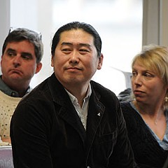 Fanhouse owner Sunny Zhao at the city's Planning commission meeting Feb. 7. Photo by Scott Elmquist.