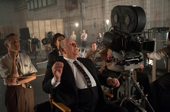 Fattened on fava beans, Sir Anthony Hopkins plops into the director's chair for the new film about Hollywood genius Alfred Hitchcock. - SUZANNE TENNER