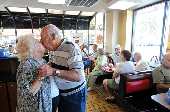 Felix, 85, and Pauline Locicero, 84, share a dance at the Chester Hardee's. They've been married 65 years.