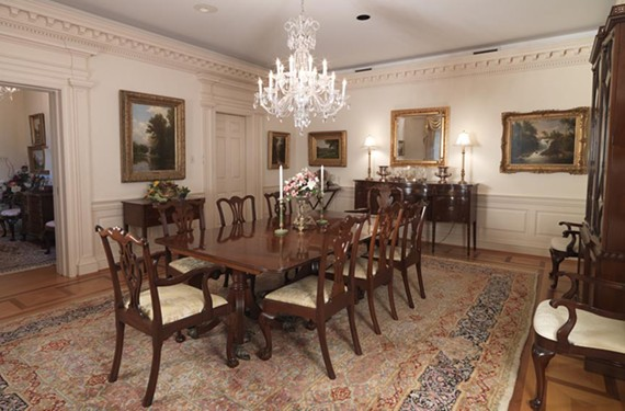 """For the Love of Beauty"" showcases the colonial furniture and 19th-century Hudson River School landscapes bequeathed to the Virginia Historical Society by Lora and Claiborne Robins. - VIRGINIA HISTORICAL SOCIETY"