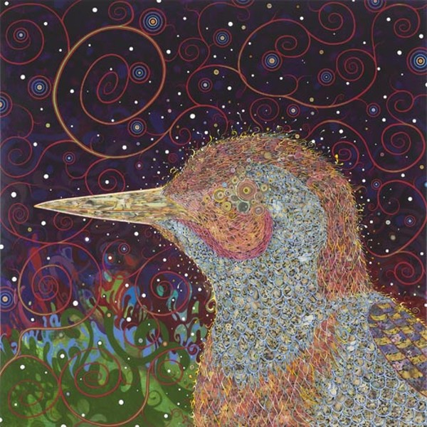 """Former L.A. punk magazine artist Fed Tomaselli credits growing up near Disneyland for his hallucinatory work such as 2008's """"Woodpecker."""" - KATHERINE WETZEL/VIRGINIA MUSEUM OF FINE ARTS"""